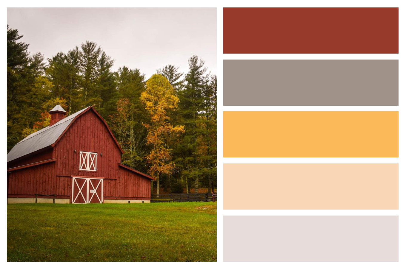 Autumn Color Palette For Interior Home Painting | Country Barn | Central  Sound Painting | Painting