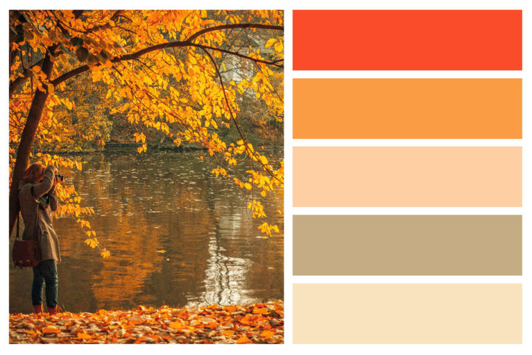Fall color palettes for interior home painting central - How warm does it have to be to paint outside ...